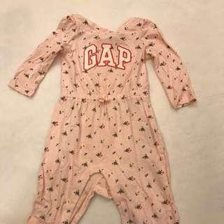 🚚 Gap Baby~粉紅小碎花連身衣