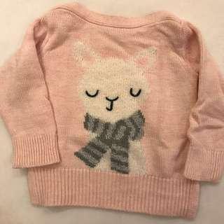 🚚 Gap Baby~ 小兔子平領毛衣