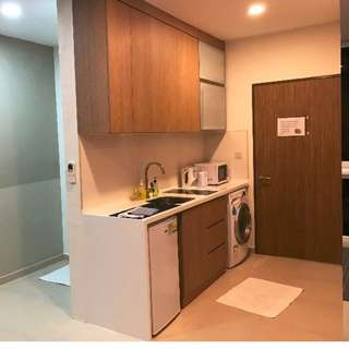 Studio Apartments for Rent @ Bugis Jalan Besar MRT 100m Washing Machine Cooker Toilet Fully Furnished