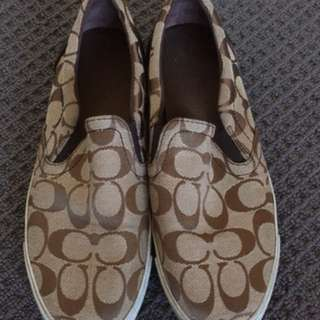 Used COACH canvas shoes