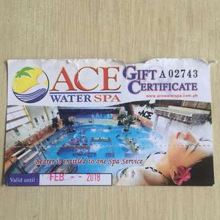 Ace Water Spa Ticket