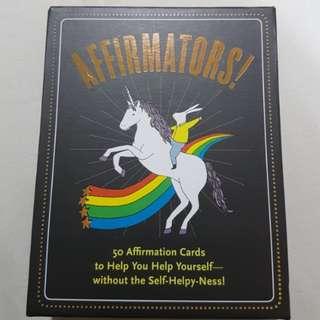 Affirmator self help cards