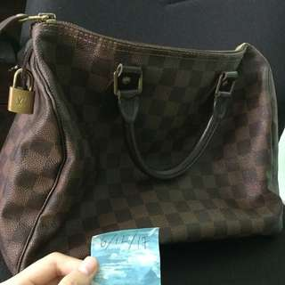 Authentic Louis Vuitton speedy 30 reduced to clear