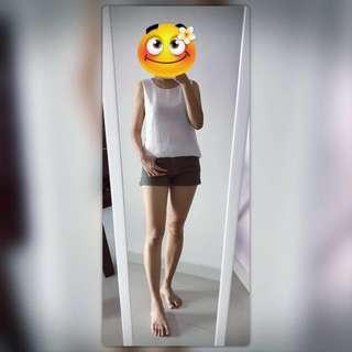 💟 S Size White Sleeveless Top~