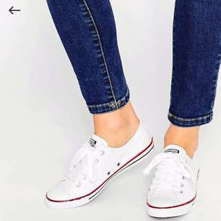 Converse Chuck Taylor All Star Dainty Ox Low White (Sz 6)