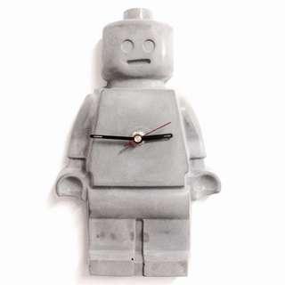 LEGO人仔水泥掛牆機械人鐘(靜音)聖誕禮物生日禮物
