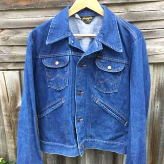 Vintage 1970s wrangler western denim jacket USA made  (42)