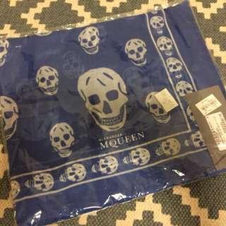 New! Alexander McQueen Skull Scarf