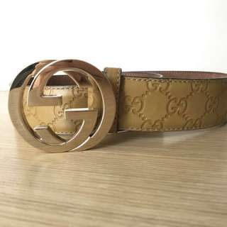 Authentic Gucci leather belt