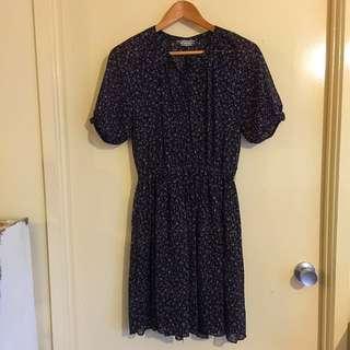 Vintage Style Patterned Dress