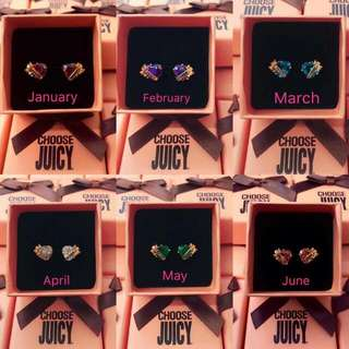 Juicy Couture Rosegold Birthstone Earrings