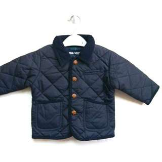 Babies Quilted Jacket Navy /Wadding