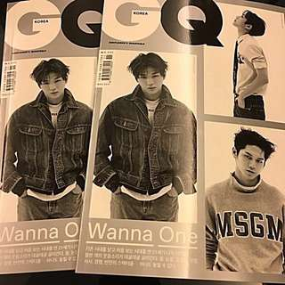 GQ 11月雜誌 - wannaone 封面