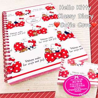 *NEW IN IN SG* Hello Kitty Classy Diary