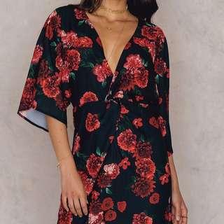 Floral kimono dress
