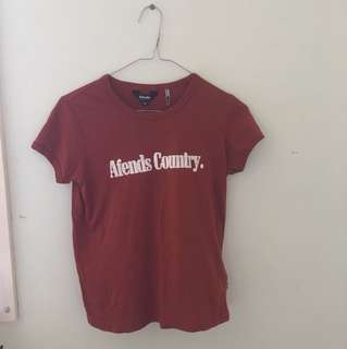 AFENDS Red Fitted T-Shirt Size 6