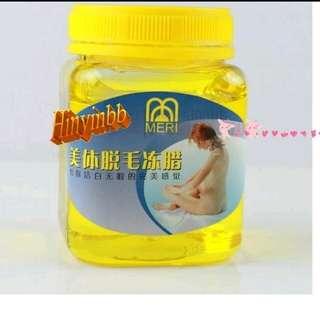 (hinyinbb) 美體 強力水溶性脫毛蠟 去除頑強毛髮 皮膚滑溜溜 300g (送15張脫毛紙 )