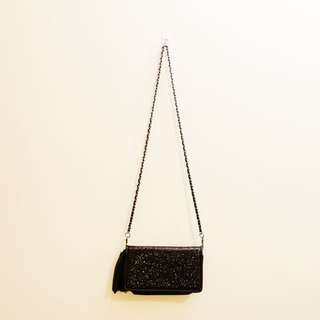 Chain-strap crossbody bag/wallet