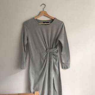 Grey maxi dress size 8