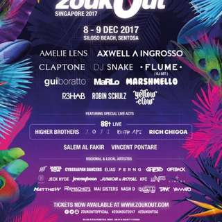 2 zouk out 2017 day 2 $33 below cost price. changed my mind about going