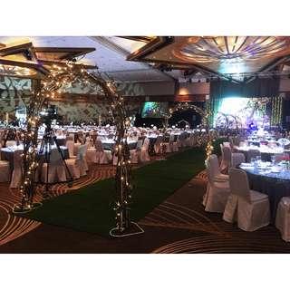 Fairmont Hotel Corporate D&D JP Morgan 1000 pax event Walkin Rustic Arch