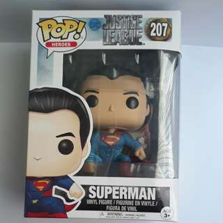 🚚 Funko POP - Movies DC Justice League - Superman 207 Toy Figure