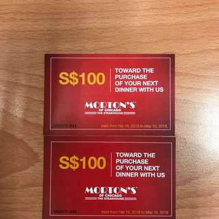Morton's Gift Card for sale