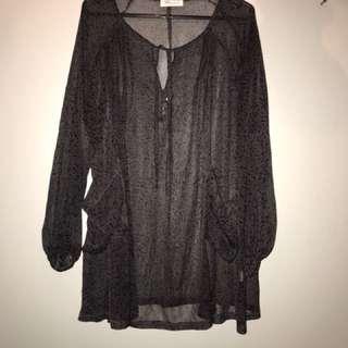 Loose paisley printed dress