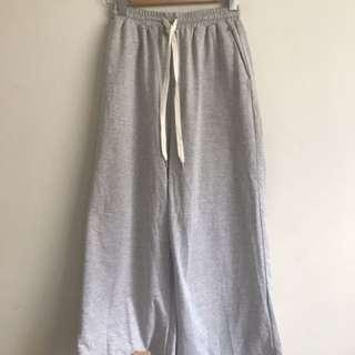Vintage grey flare tie pants