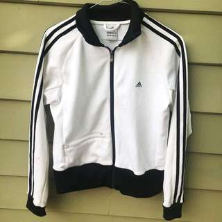 Vintage Adidas Jacket White And Black