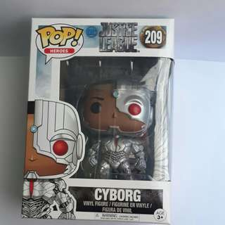 🚚 Funko POP - Movies DC Justice League - Cyborg 209 Toy Figure