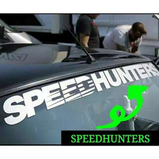 SPEEDHUNTERS Decal For Car Windscreen
