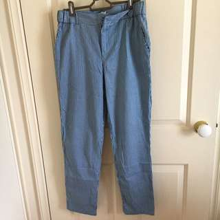 Blue/white stripe pants