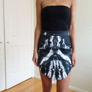 Blk/white skirt