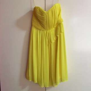 Mango Yellow Cocktail Dress