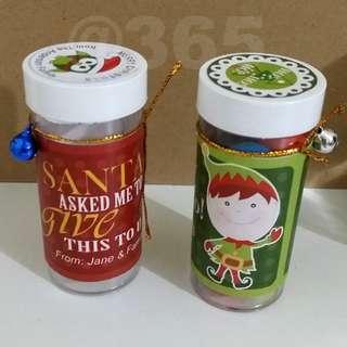 Christmas Gift Bottles for Kids, Adults