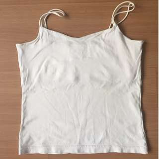 White Slim Tank Top by Giordano for Women (Authentic)