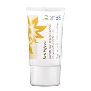 BNIB Innisfree Korea Eco safety no sebum sunblock SPF35/PA+++