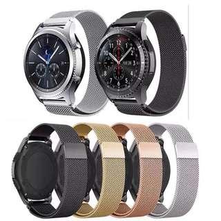 ticwatch1/2磁力智能手錶帶華為watch2榮耀s1小黑2/3米蘭尼斯錶帶