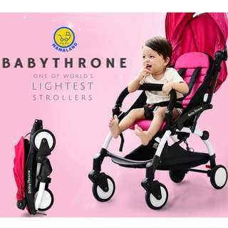 Advanced BabyThrone Lightweight Foldable Stroller