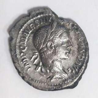 Ancient Roman Silver Coin (Severus Alexander Denarius)