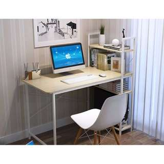 Computer Table with Attached Bookshelves (100 cm x 48 cm)