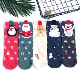 韓國帶回~🎄☃️耶誕系列企鵝 小熊 聖誕老公公 雪人 薑餅人 耶誕襪 交換禮物必備 聖誕派對襪 中筒襪 短襪 造型襪