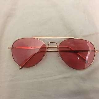 REDUCED‼️Pink Aviator Sunglasses