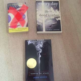 Every Day By David Levithan, Looking For Alaska By John green