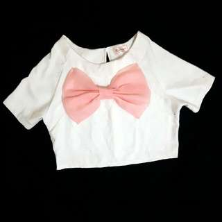 Big Bow Peach Top