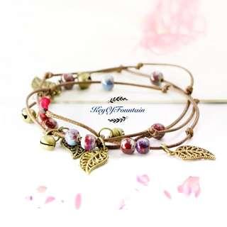 包郵 陶瓷手工 手繩 手帶 女神 Bracelet
