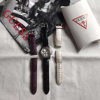 Classic guess interchangeable strap watch
