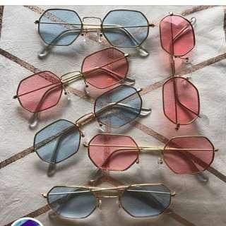Hexagon festival glasses