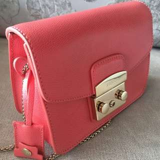 Furla Metropolis pink rosa color cross body bag